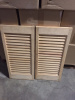 STATIONARY SLAT BLINDS (12 X 25) - UNFINISHED